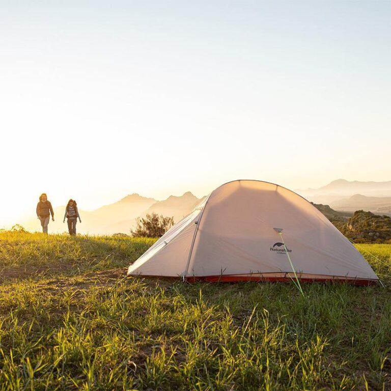 自転車キャンプ バイクパッキング ネイチャーハイク クラウドアップ2 テント